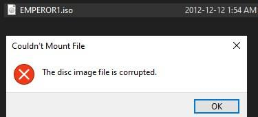 Corrupted error pop up when try to mount with Win10.jpg